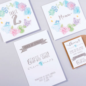 Table Plan, Numbers, Place Cards, Menus : Wonderland