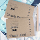 Personalised 'Thank You' Best Man Bow Tie Wedding Card