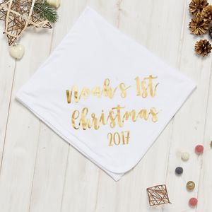 Personalised 1st Christmas Blanket - baby's room