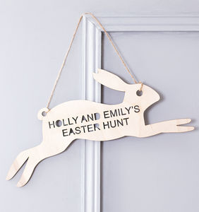 Personalised Easter Egg Hunt Sign - easter decorations
