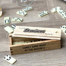 Personalised Family Dominoes Set