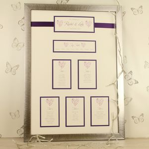 Ice Framed Wedding Table Plan - table decorations