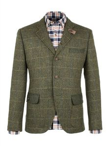 Men's Tweed Check Jacket - coats & jackets
