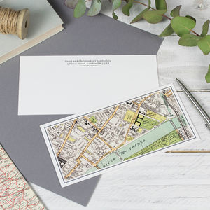 Personalised Map Notelets - notelets & writing paper