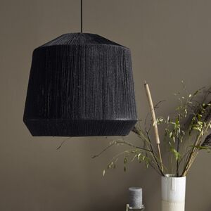Black Jute Lampshade