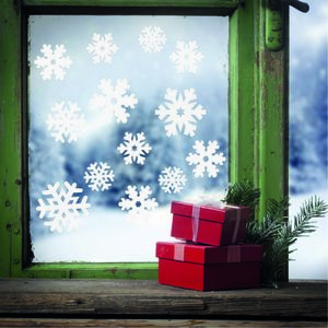 Snowflake Window Stickers - bedroom