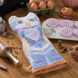 Jasper The Owl Gauntlet - oven gloves & mitts