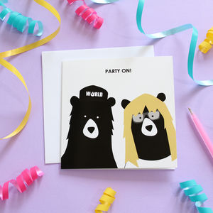Party On! Waynes World Birthday Card