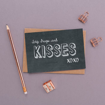 'Big Hugs And Kisses' Valentine's Day Card
