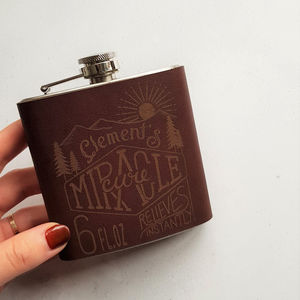 Customised Hip Flask Miracle Cure - hip flasks