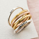 Personalised Pair Of Stacker Rings