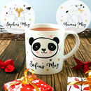 Personalised Children's Animal Mug, Fox, Deer, Panda