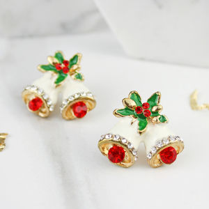 Christmas Bell Stud Earrings - earrings