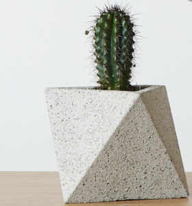 Cement Octahedron Planter Pot