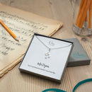 Silver Music Note Necklace With Personalised Message