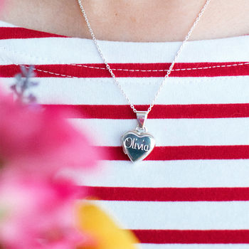 Girl's Personalised Sterling Silver Heart Locket