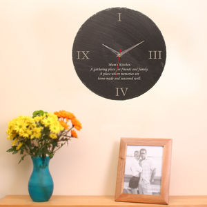 Personalised Slate Wall Clock - home accessories