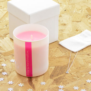 Luxury Candle And Sterling Silver Necklace Gift Set
