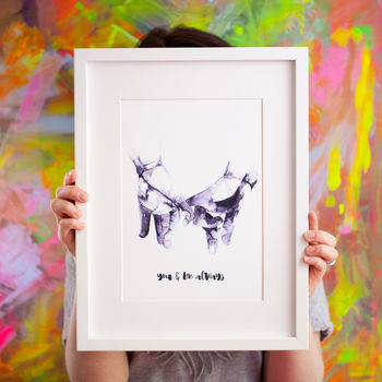 'You And Me Always' Wedding / Anniversary Print