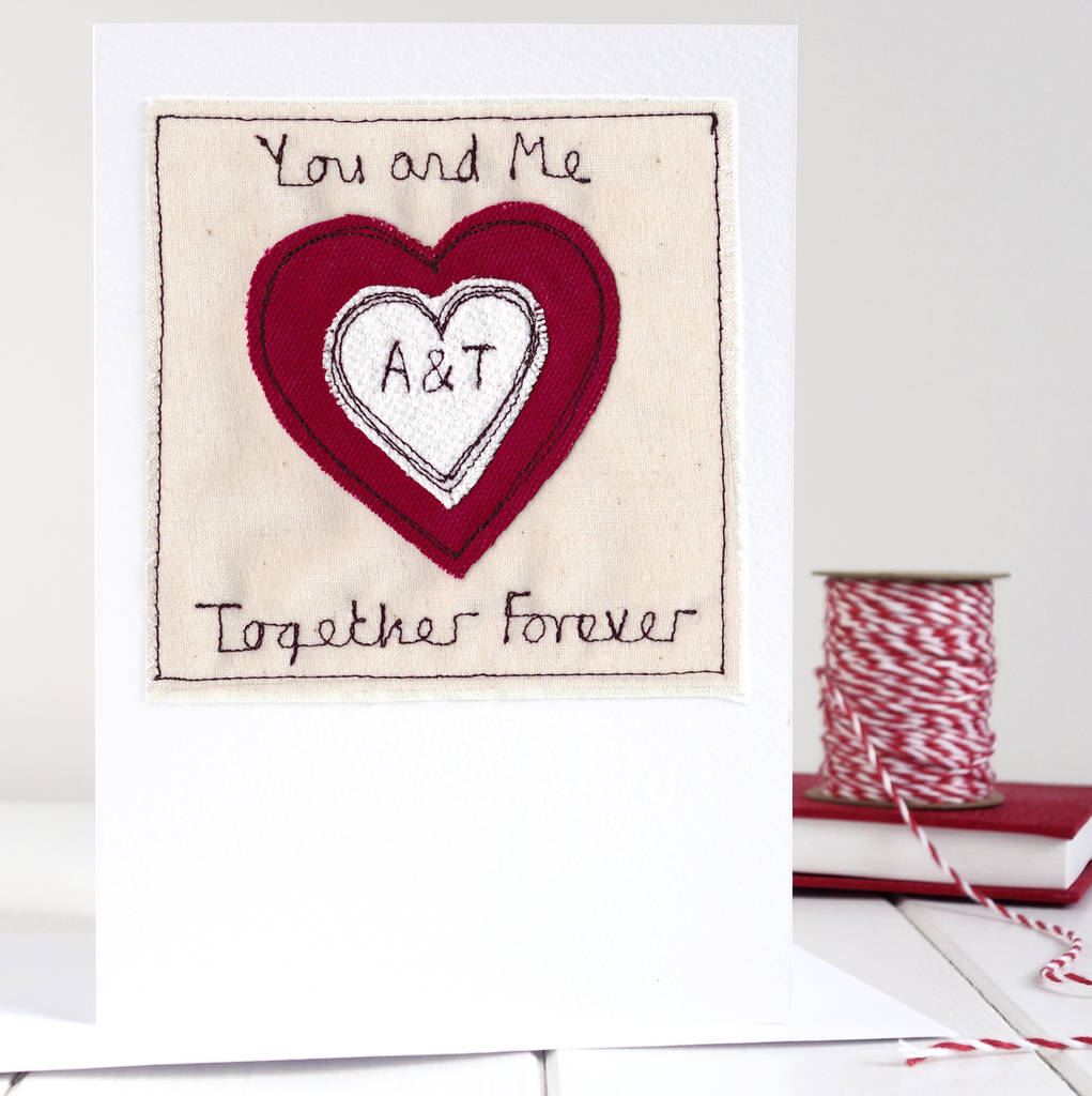personalised initials heart card by milly and pip ...