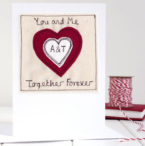Personalised Initials Heart Card - anniversary cards