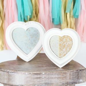 Ivory Heart Picture Frame, Two Sizes