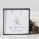 Personalised Reindeer Charm Necklace