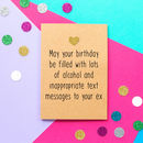 'Inappropriate Text Messages' Funny Birthday Card
