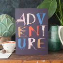 Bon Voyage Adventure Card Personalisable Inside