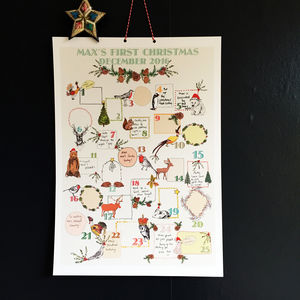 Keepsake Personalised Baby's First Advent Calendar - baby's first christmas