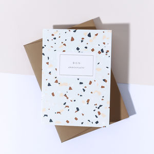 'Bon Anniversaire' Marble Card, Harvest Envelope - shop by category
