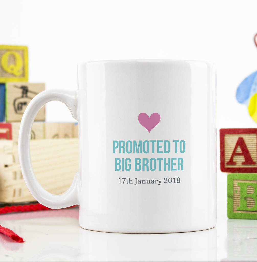 Personalised Promoted To Big Brother Mug