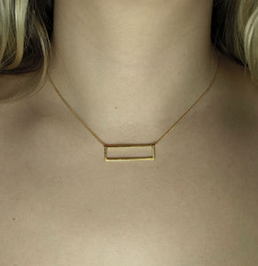 Two Way Rectangle Necklace - necklaces & pendants