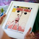 Personalised Strong Man Comic Book Cover Style Print