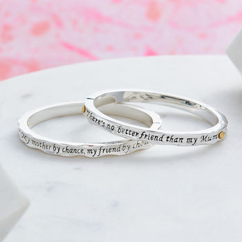 Silver Plated Mother Message Bangles