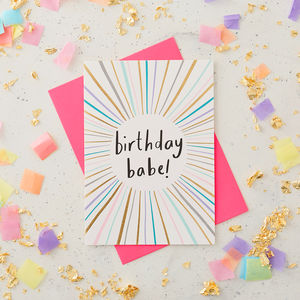Birthday Babe Greeting Card - new in