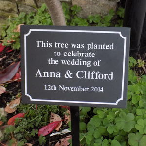 Personalised Slate Wedding Plaque - art & decorations