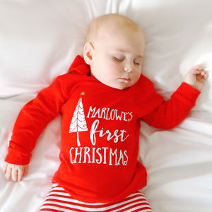 Personalised 'First Christmas' Christmas T Shirt - t-shirts & tops