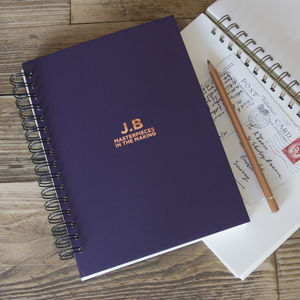 Personalised Initials Memory Book