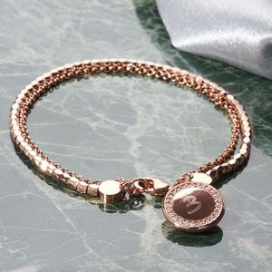 Personalised Double Strand Bracelet - rose gold jewellery