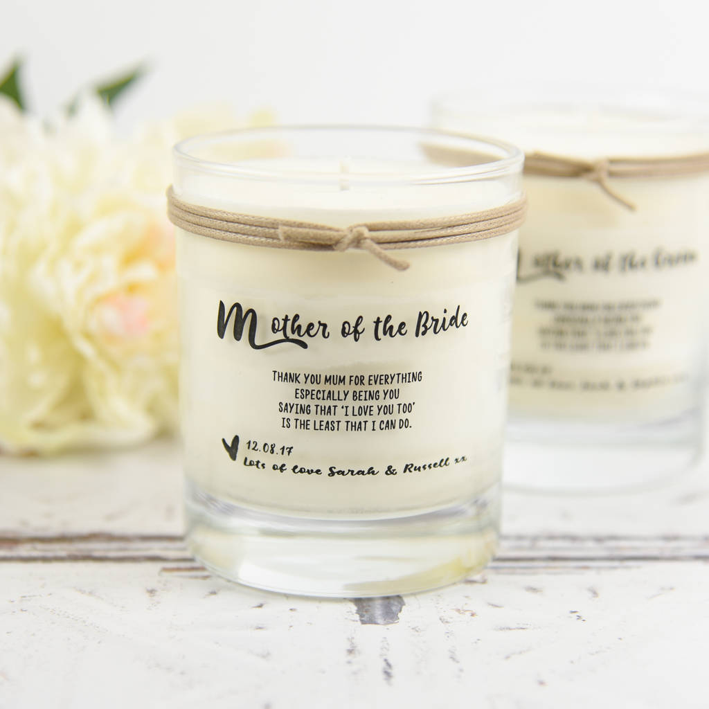 Mother Of The Bride Mother Of The Groom Scented Candle By A Touch Of