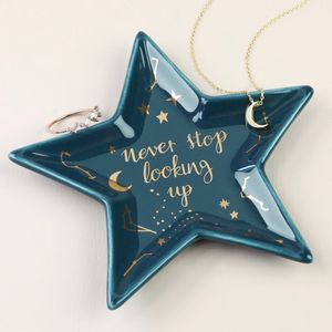 'Never Stop Looking Up' Star Trinket Dish - dish