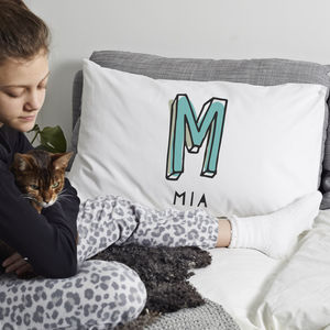 Personalised 'Initial' Pillow Case - bedroom