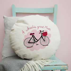 'A Wheelie Great Mum' Cushion Gift For Mum