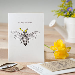 'Ha Bee Birthday' Seed Card - birthday cards