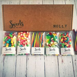 Personalised Letterbox Sweets Gift Box - sweets