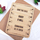 Hanging Light Bulb Save The Date Magnet