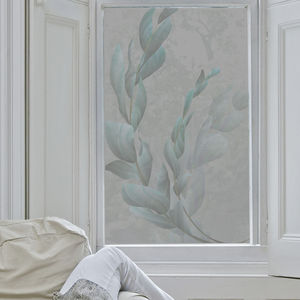 Silvery Leaves Frosted Window Film - window film