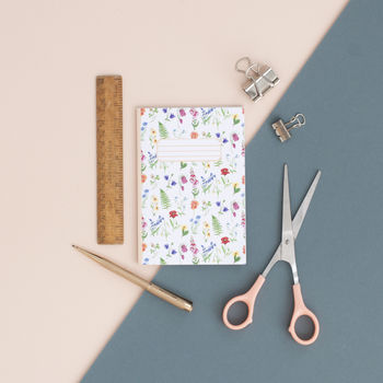 Flower Pattern Pocket Notebook