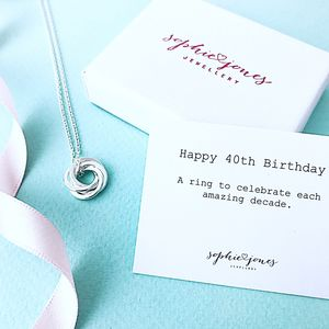 40th Birthday Silver Necklace - necklaces & pendants